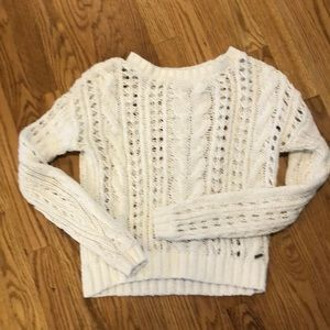Hollister white cable sweater sz XS worn once
